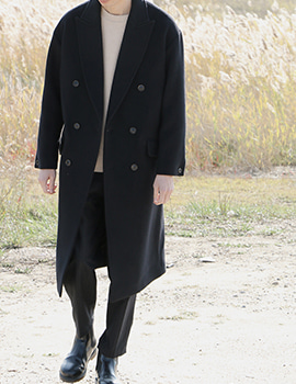 out of stock DOUBLE LONG WOOL COAT